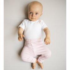 Pantaloni neonata Rosa in bamboo nanaf organic