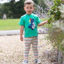 Pantaloni Stripy carrot per bambini in cotone biologico