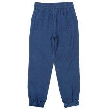 Pantaloni velluto per bambini e ragazzi in Cotone Biologico Blu