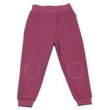 Pantaloni tuta per bambine felpati 100% cotone bio Rosa Antico