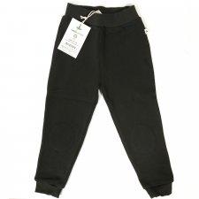 Pantaloni tuta per bambini felpati 100% cotone bio Antracite