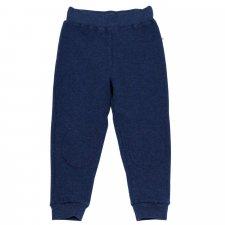 Pantaloni tuta per bambini felpati 100% cotone bio Blu Indaco