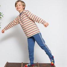 Pantaloni tuta righe laterali in Cotone Biologico