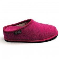 Pantofola Diva con tacco Fuxia in feltro di lana