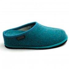 Pantofola Diva con tacco Ossido di Rame in feltro di lana