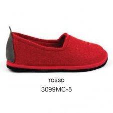 Pantofola Glee Rossa in feltro di lana