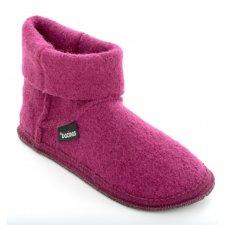 Pantofole a Stivaletto in pura lana cotta ORCHIDEA