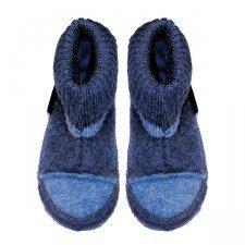 Pantofole blu chiaro in lana biologica unisex alte