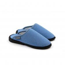 Pantofole HOMY Azzurro in lana cotta