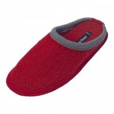 Pantofole in pura lana cotta Bicolore Rosso Grigio
