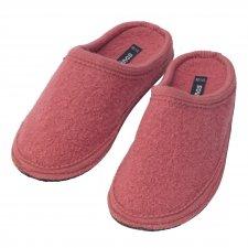 Pantofole in pura lana cotta Rosa Antico
