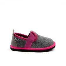 Pantofole Muvy grigio fucsia per bambine e ragazze in feltro di lana