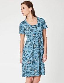 Passiflora floral print dress in organic cotton