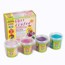 Pasta soffice da modellare ecologica Princess: rosa, fucsia, violetto, ciano