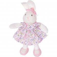 Peluche Havah il Coniglietto Rosa in Cotone bio e caucciù naturale
