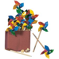 Pencils with colorful pinwheels