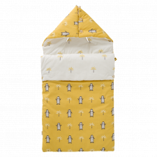 Penguin travel baby sleeping bag in organic cotton
