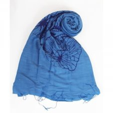 Periwinkle print scarf in viscose and silk Fairtrade