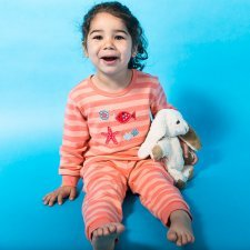 Pigiama Stella Marina per bambina in cotone biologico