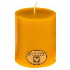Pillar candle made of beeswax