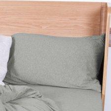 Pillow case Brown Melange in organic cotton 40x80 cm