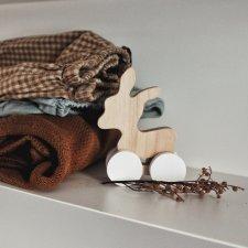 Pinch Toys Asinello in puro legno di ontano fatto a mano