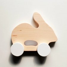 Pinch Toys Coniglietto in puro legno di ontano fatto a mano
