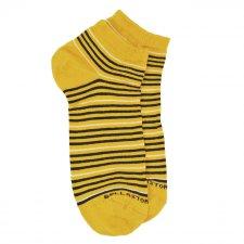 Pink Bamboo Women's Sneaker Yellow Socks