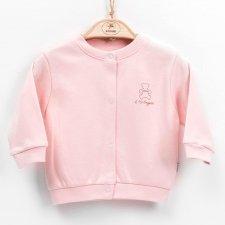 Pink cardigan in organic cotton