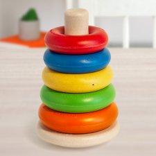 Piramide ad anelli giocattolo antibatterico autoigienizzante