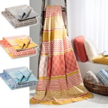 Plaid Lia in pile di cotone biologico fantasia 150x200