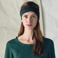 Plain hairband in hemp and organic cotton