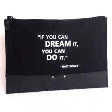 Pochette grande IF YOU CAN DREAM Equo Solidale in cotone