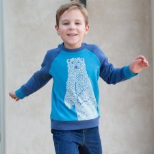 Polar bear sweatshirt in organic cotton