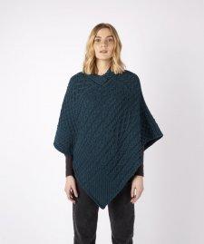 Poncho Elm Patchwork da donna in pura lana