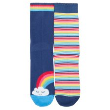Rainbow stripe socks for children in organic cotton