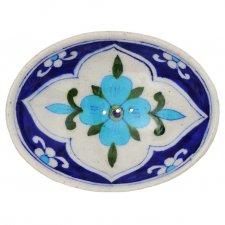 Portasapone JANKA in ceramica smaltata dipinta a mano