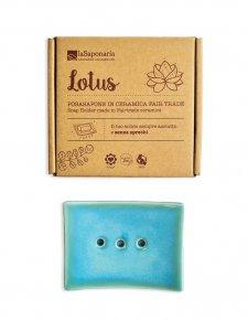 Portasapone Lotus in ceramica equosolidale