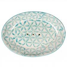 Portasapone LOU in ceramica smaltata dipinta a mano