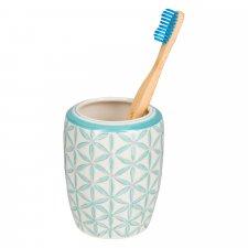 Portaspazzolino LOU in ceramica smaltata dipinta a mano