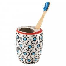 Portaspazzolino MATTHES in ceramica smaltata dipinta a mano