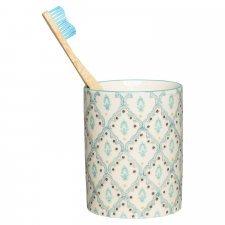 Portaspazzolino NAILA in ceramica smaltata dipinta a mano