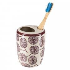 Portaspazzolino SAMIRA in ceramica smaltata dipinta a mano