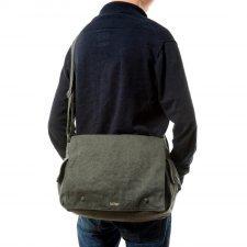 Postman bag in hemp Sativa