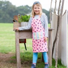 Ladybird apron for girls in Organic Cotton