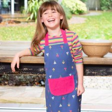 Posy kitchen apron for girls in Organic Cotton