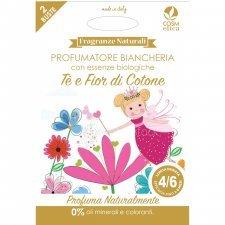 Profumatore Biancheria Ecologico Tè e Fior di Cotone 2 pz