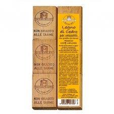 Profumatori per cassetti antitarme in legno al cedro 6 pz