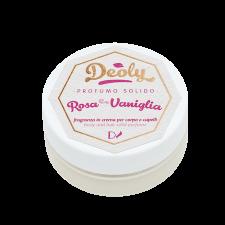 Profumo Solido Deoly Rosa e Vaniglia per corpo e capelli