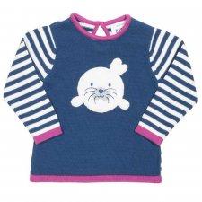 Pullover bambina Little Seal in cotone biologico